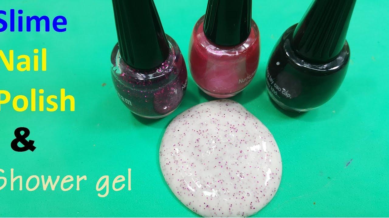 slime 2 ingredient nail polish