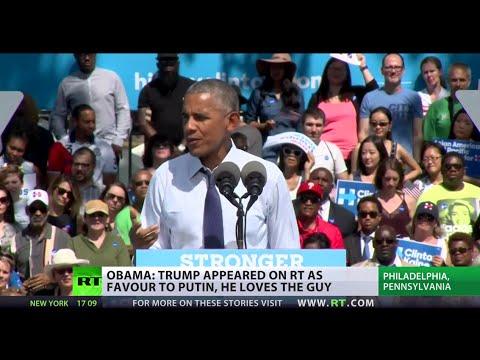 Obama slams Trump's appearance on RT, compares Putin to Saddam Hussein