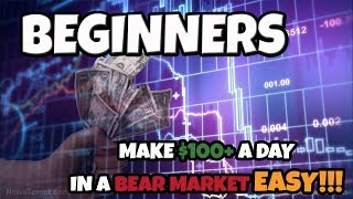Easy Method To Make $100+ A Day Trading Cryptocurrency In A Bear Market As A Beginner