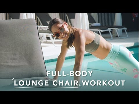 The 5-move poolside full-body workout you can do in a lounge chair
