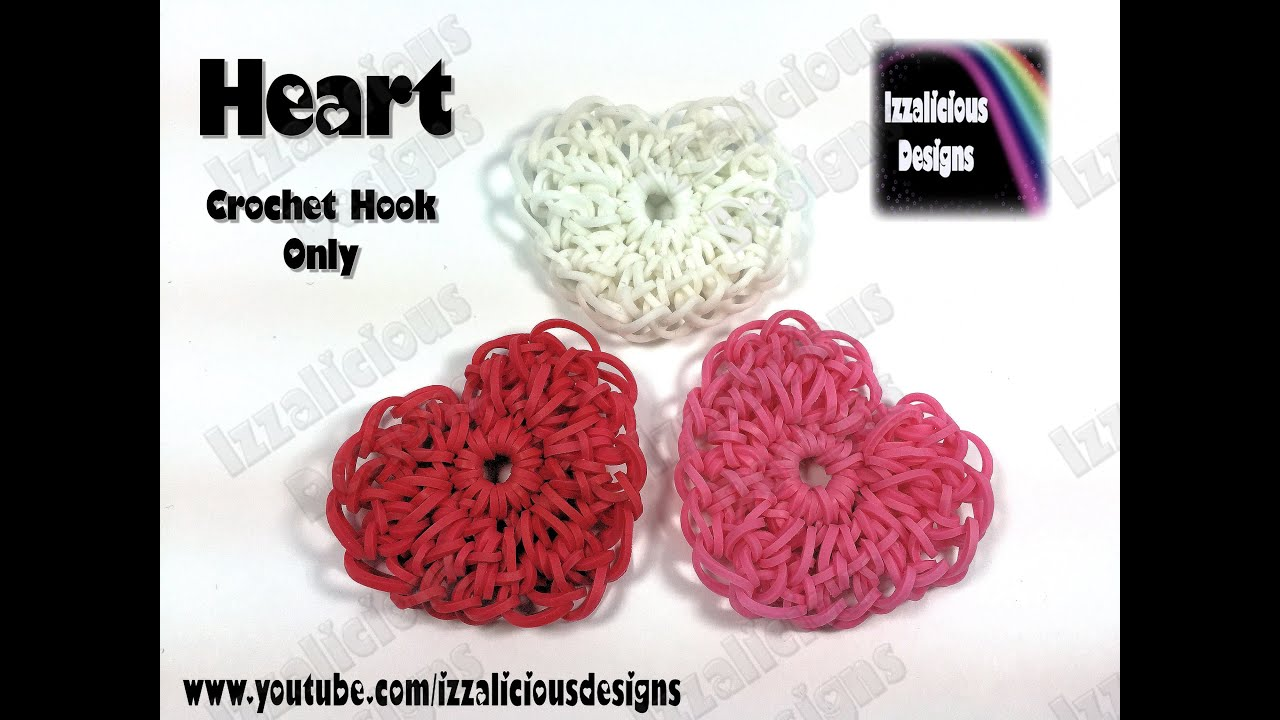 Rainbow Loom Heart Hart Charm Valentine Crochet Hook