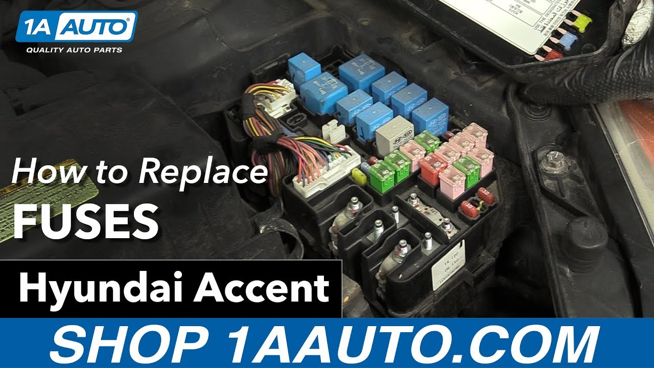 how to check fuses 07 hyundai accent [ 1280 x 720 Pixel ]