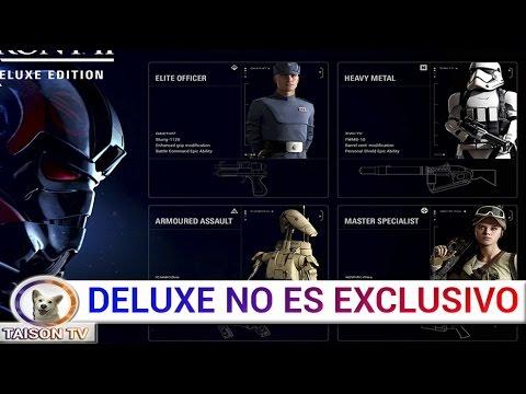 STAR WARS BATTLEFRONT II EL CONTENIDO DELUXE NO ES EXCLUSIVO, BATALLAS ESPACIALES DE 64 JUGADORES