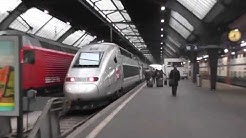 Zugfahrt im TGV nach Paris