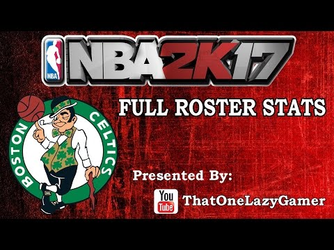 "NBA 2K17 ""Boston Celtics"" Full Roster stats"
