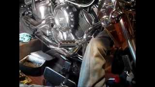 Perf-form oil relocating filter for vstar 1100 #OF-0080