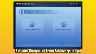 How to Restore Computer From Recovery Image