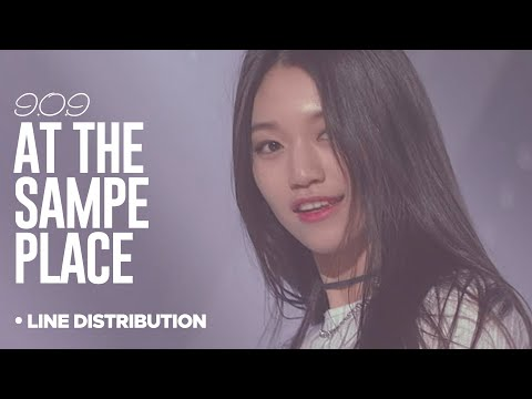 I.O.I - At the Same Place : Line Distribution (Color Coded)