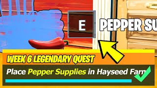 Place Pepper Supplies in Hayseed's Farm (ALL LOCATIONS) - Fortnite