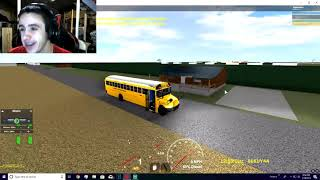 ROBLOX SCHOOL BUS SIMULATOR, I CROSSED A KID IN A 4 LANE HIGHWAY! *GEFÄHRLICH*