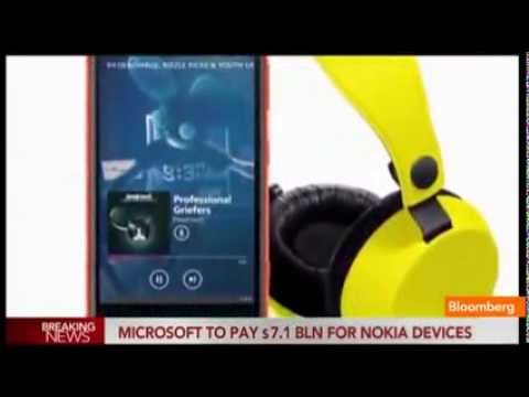 Microsoft reaches $7 2B deal for Nokia handset business   Breaking News! 9 3 2013   YouTube 360p]