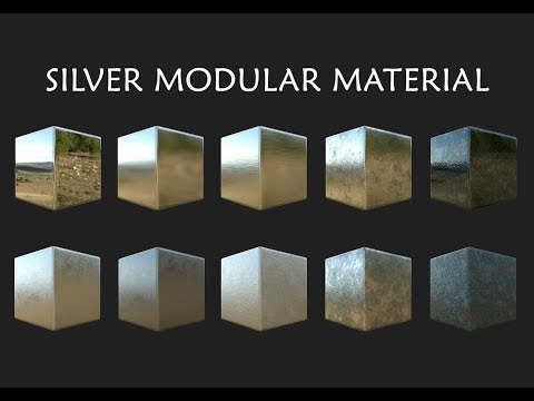 Silver with Oxidation Modular Material - Substance Designer