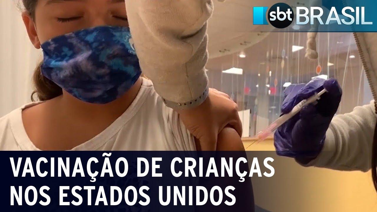 EUA: estudo sobre vacinação de crianças contra Covid-19 é enviado à FDA| SBT Brasil (28/09/21)