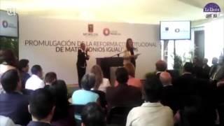 Firman decreto para la promulgación de reforma constitucional del matrimonio igualitario en Morelos