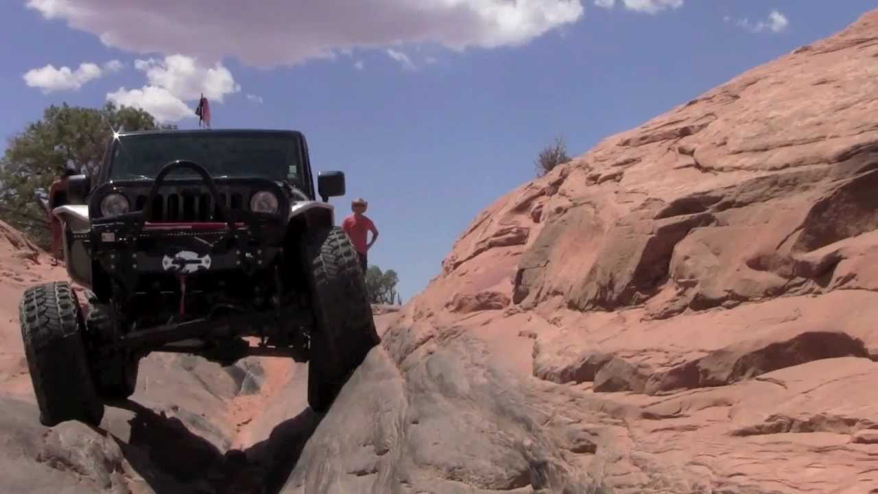 Jeep Rubicon Red Poison Spider Trail, Moab Jeep JK Rubicon Offroad - YouTube