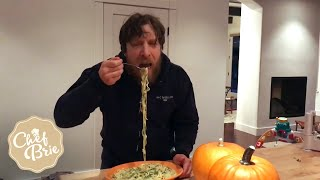 How to make DANIEL BRYAN-APPROVED zucchini fettuccine alfredo with Chef Brie!