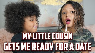 Little Cousin Does My Makeup & Gets Me Ready For A Date  | LexiVee03
