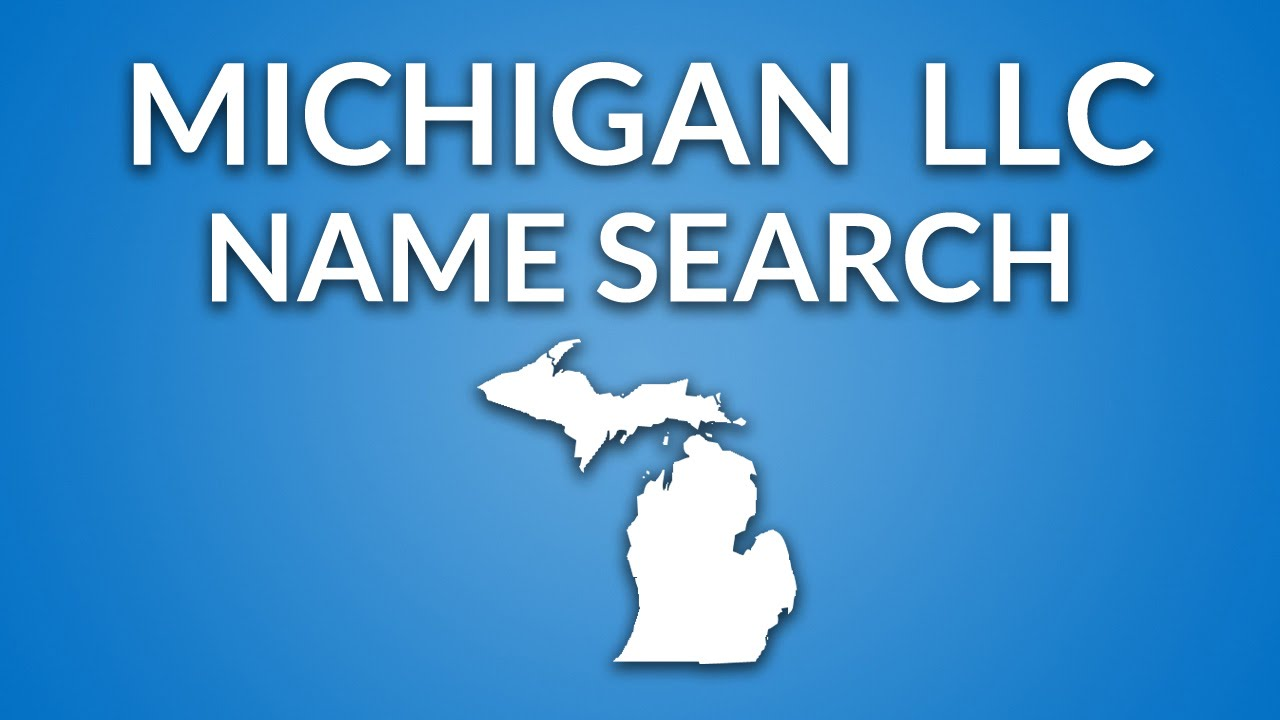 Michigan Llc Name Search Youtube