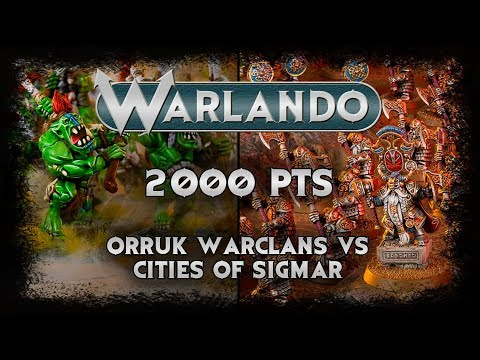 Orruk Warclans vs Cities of Sigmar Warhammer Age of Sigmar Battle Report EP107