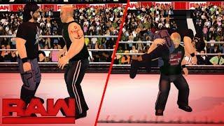 Brock Lesnar hits six F5s on Seth Rollins- RAW | WR3D