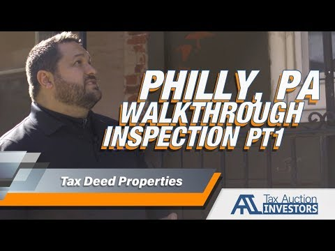 Real Estate Property : Home Inspection Walkthrough of Tax Sale Property in Philadelphia, PA PT. 1
