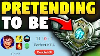PRETENDING TO BE A SILVER PLAYER WHILE BEING COACHED! (DIAMOND IN DISGUISE) - League of Legends
