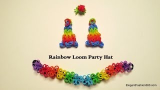 How to Make Birthday Party Hat Charm on Rainbow Loom