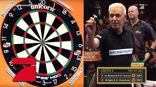Letztes Spiel der Gruppenphase: Baxxter & van Barneveld vs. Moschner & Wright | Promi Darts WM
