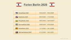 Ferien Berlin 2020 - Termine Schulferien