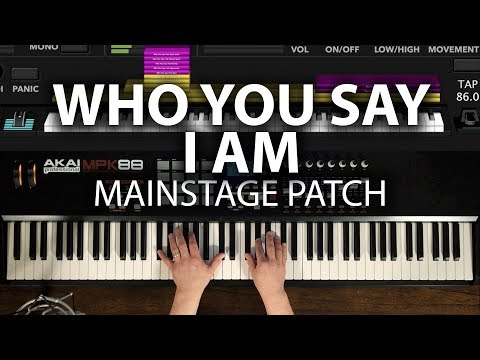 Who You Say I Am MainStage patch keyboard cover- Hillsong Worship