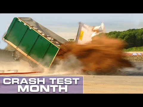 Crash Test Month: Truck Hitting A Bollard