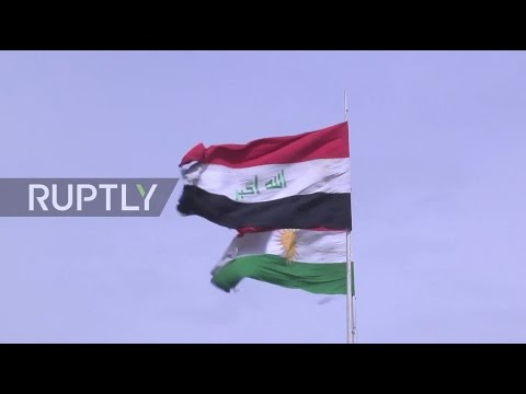 Iraq: Kurdish flags fly high from govt. buildings in Kirkuk amidst intl. outcry