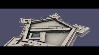 Animation of the 3D Model of the Castle of Good Hope in Cape Town, South Africa.