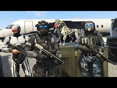 FUTURISTIC MILITARY TAKEOVER!! (GTA 5 Mods)