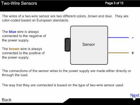 2 wire dc sensor working principle youtube 3 Wire AC Proximity Sensor Wiring Diagram