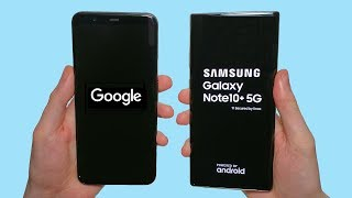 Google Pixel 4 XL vs Galaxy Note 10+ 5G Speed Test, Speakers, Battery & Camera Test!