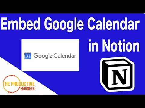 How to Embed Google Calendar in Notion