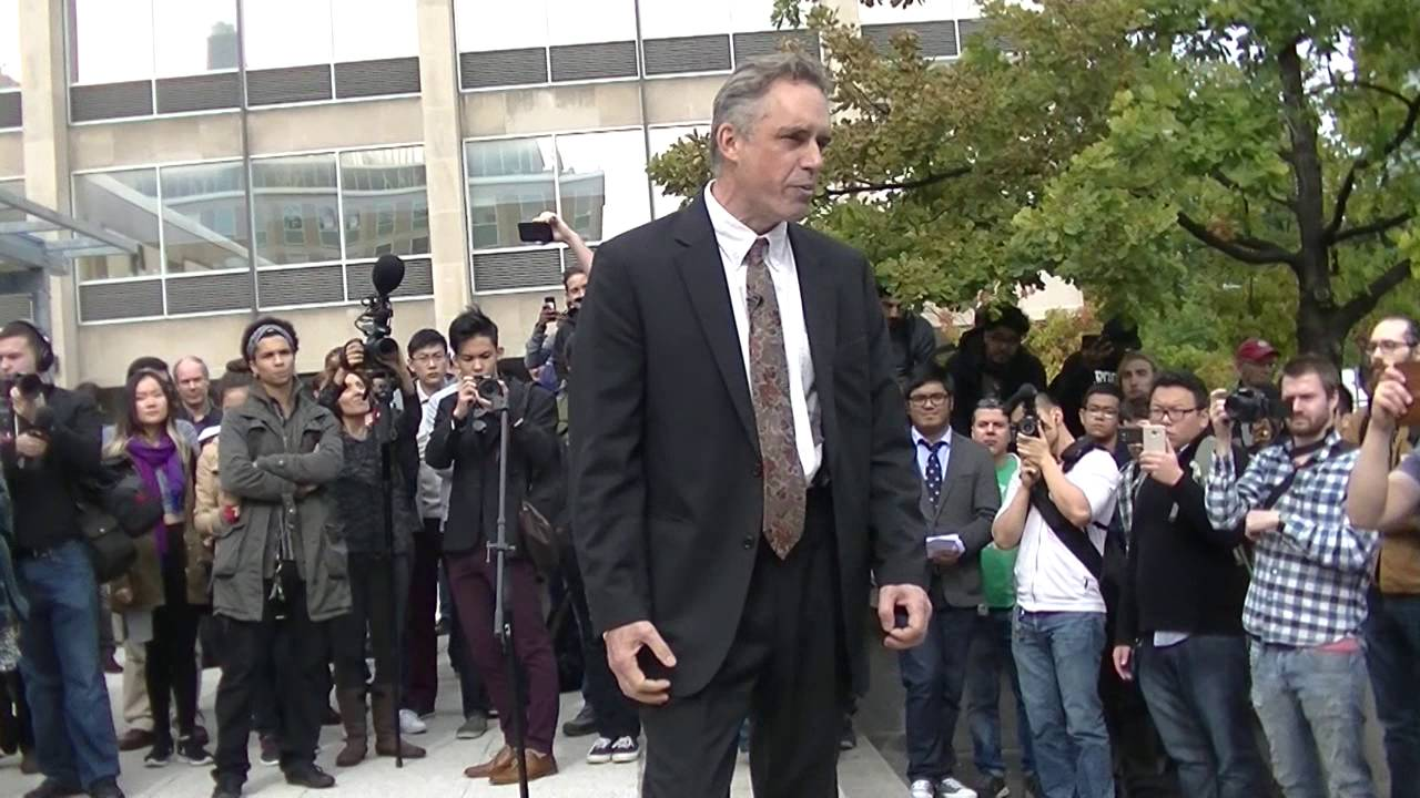 Jordan Peterson's First Protest At The University of Toronto - YouTube