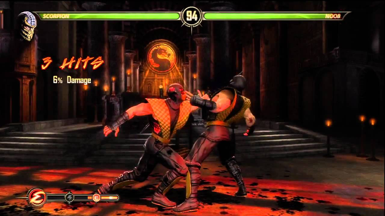 Mortal Kombat 9 Shadow Noob Secret Battle With Color