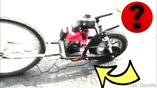 My Homemade 49cc scooter / dirtbike / moped (You Tell Me What The Heck I Made!)