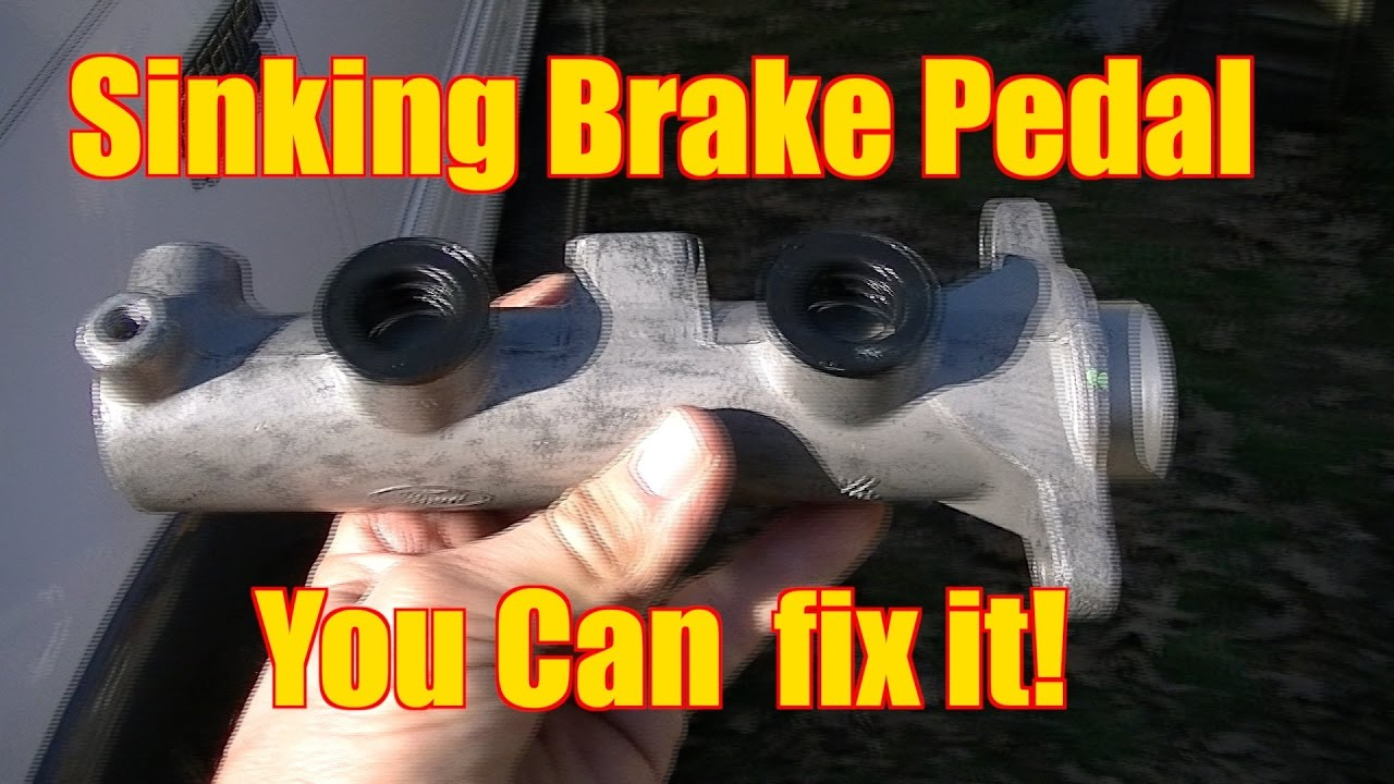 Fix Fixing A Sinking Brake Pedal- NON ABS   Master Cylinder time!!