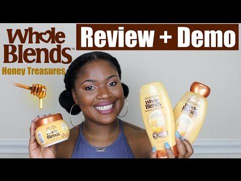Garnier Whole Blends Product Review (Honey Treasures) + Demo   Natural Hair