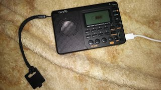 TIVDIO V-115 AM FM SW MP3 Recorder Player Radio USB Rechargeable