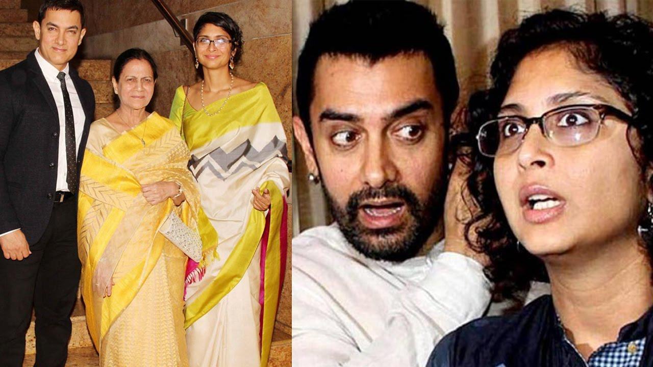 Aamir Khan Family With Wife Kiran Rao Ex Reena Dutta Daughter Ira Sons Junaid Azad Pics You