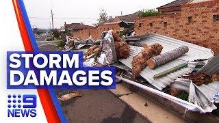 Huge clean-up after freak storm hits Sydney's west | Nine News Australia