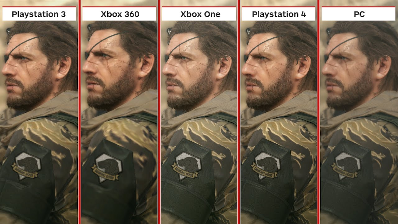 Metal Gear Solid 5: The Phantom Pain Graphics Comparison - YouTube