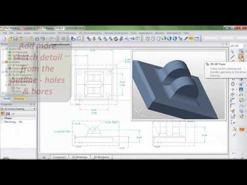 Edgecam 2014 R2 | Part Modeler 2D to 3D