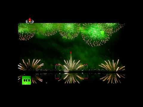 N. Korea lights up night sky with fireworks in honor of late Supreme Leader Kim Jong II