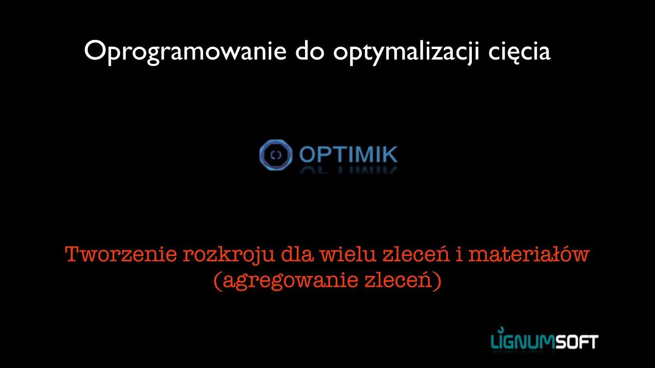 Optimik - Tworzenie rozkroju z wielu zleceń