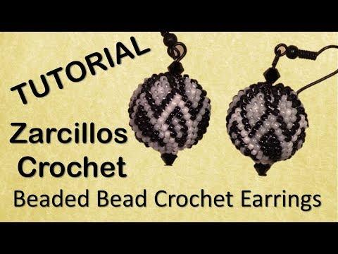 Zarcillos Esfericos Crochet TUTORIAL - English Subtitles